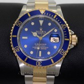 Rolex Submariner 16613 18K Gold Steel Blue Dial
