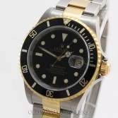 Rolex Submariner Ref 16613 18K Gold Steel Black