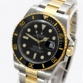 Rolex Submariner Ref 116613N 18K Gold Steel Black Ceramic