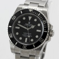 Rolex No Date Submariner 114060 Ceramic Stainless Steel