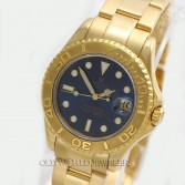 Rolex Mid Size Yacht Master 68628 18K Yellow Gold Blue Dial