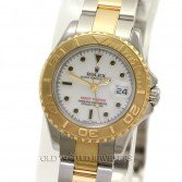 Rolex Lady Yacht Master 169623 18K Gold Steel White Dial