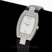 Tiffany Lady 1.95cttw Pave Diamond Tonneau Cocktail Watch 18K Gold