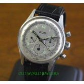 Tissot Rare Stainless Steel 3 Register Chronograph Vintage Watch Cal 27.41H