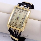 IWC Early Wrist Watch made for Tiffany & Co 18K Yellow Gold