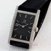 Omega Vintage Diamond Watch Ref 6800D 14K White Gold