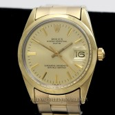 Rolex Vintage Date Ref 1550 14K Gold Plated Champagne Dial